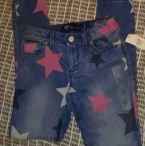 Girls Gap Jeans Star Print Size 8 Regular